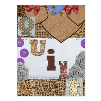 Quilt products postcard
