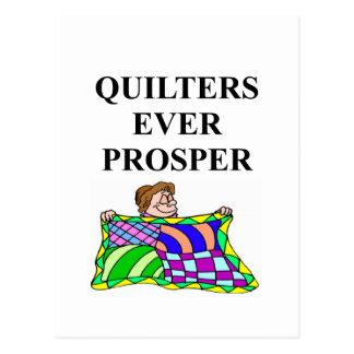 QUILT quilter quliting Postcard