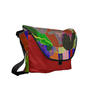 Quilt Scraps - Digital Abstract Painting Messenger Bag