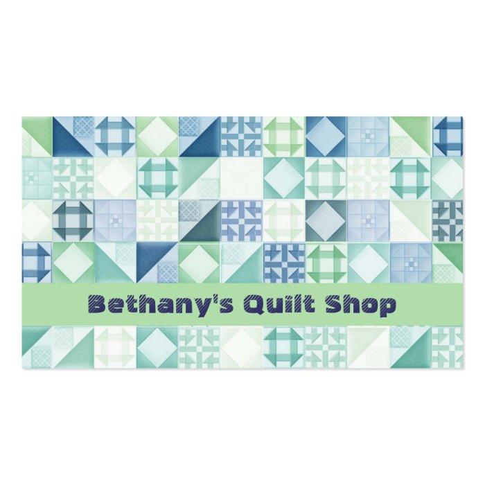 quilt shop business cards zazzle. Black Bedroom Furniture Sets. Home Design Ideas
