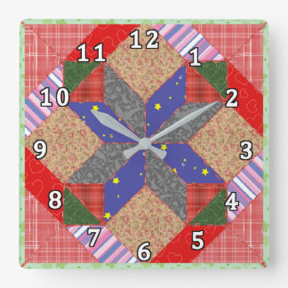 Quilt Square Wall Clock