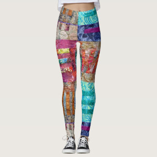Quilt Squares Design Leggings