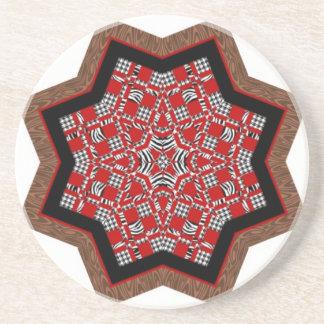 Quilt Star 1 Beverage Coaster