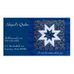 Quilt star blue Double-Sided standard business cards (Pack of 100)