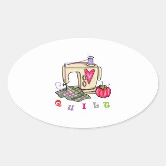 Quilt Oval Sticker