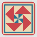 Quilt Stickers - Patriotic Spin (red)