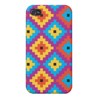 Quilt Textile pattern Cover For iPhone 4