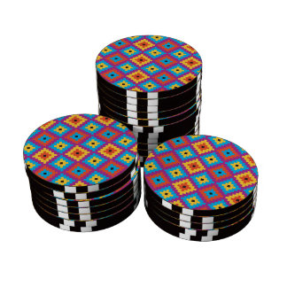 Quilt Textile pattern Poker Chips