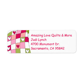 Quilt Themed Return Address Label