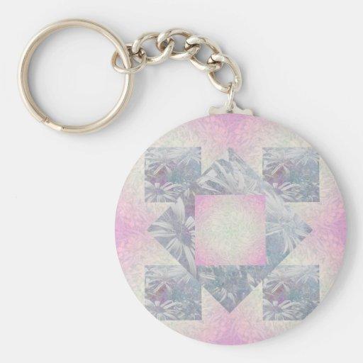 Quilt Tile Key Chains