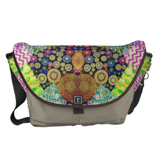 Quilted Abstract Courier Bag