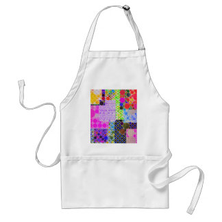 Quilted Abstract Pattern Adult Apron