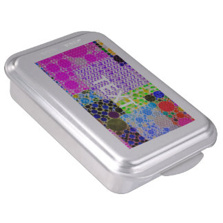 Quilted Abstract Pattern Cake Pan