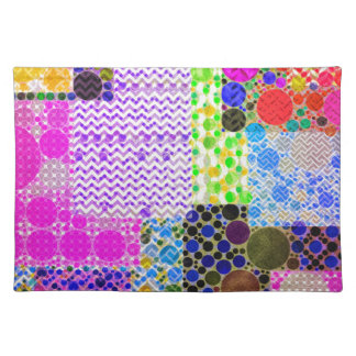 Quilted Abstract Pattern Cloth Place Mat