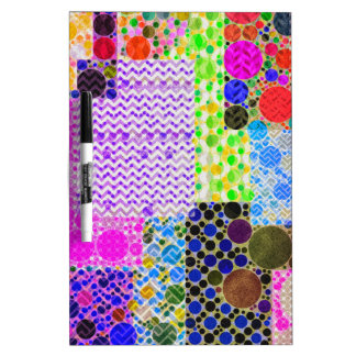 Quilted Abstract Pattern Dry-Erase Whiteboards
