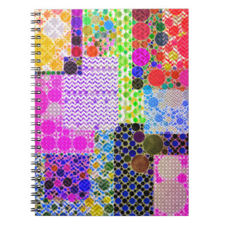 Quilted Abstract Pattern Notebooks