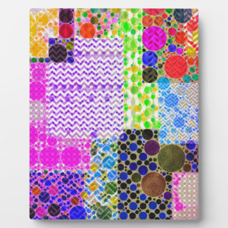 Quilted Abstract Pattern Display Plaque