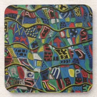 Quilted Abstraction Cork Coaster