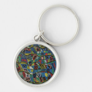 Quilted Abstraction Gift Products Keychain