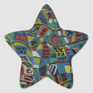 Quilted Abstraction Gift Products Star Sticker