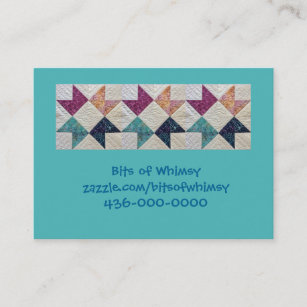 quilted batik business cards - Zazzle Business Cards