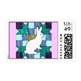 Quilted Bunny Postage