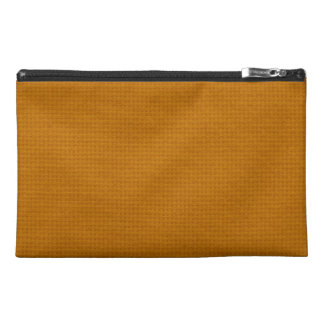 Quilted Burnt Orange Travel Accessory Bag