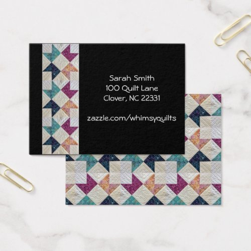 Quilted Business Cards