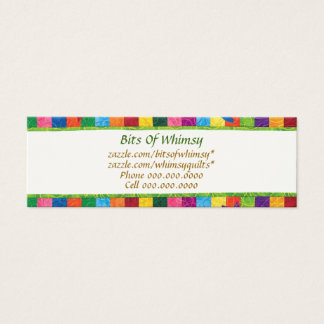 Quilted Business Cards! Mini Business Card