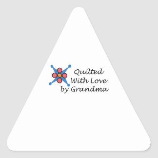 QUILTED BY GRANDMA TRIANGLE STICKER