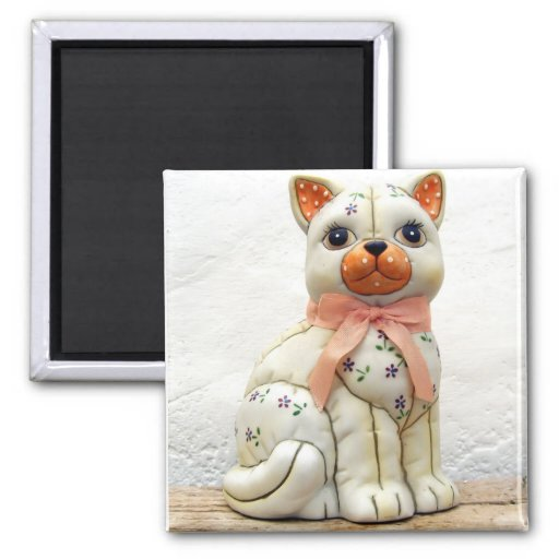 Quilted Cat. Magnet