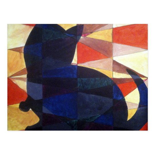 Quilted Cat Postcard