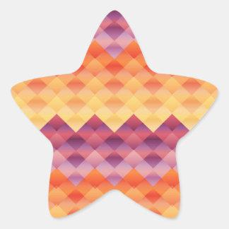Quilted Chevron Star Sticker
