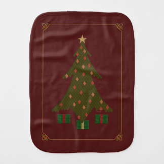 Quilted Christmas Burp Cloth