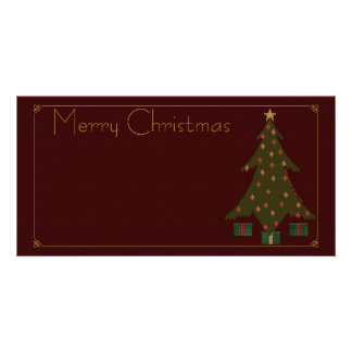 Quilted Christmas Photo Card