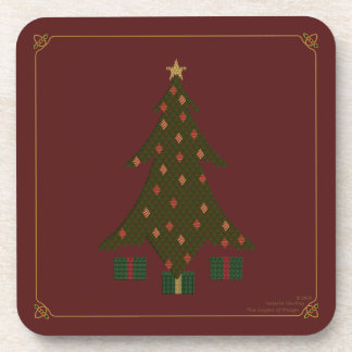 Quilted Christmas Square Coaster