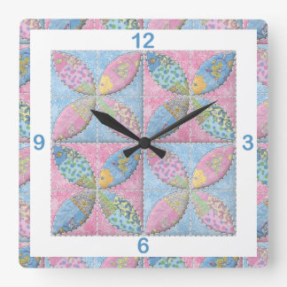 Quilted Classic Melon Patch for the Quilter Square Wall Clock