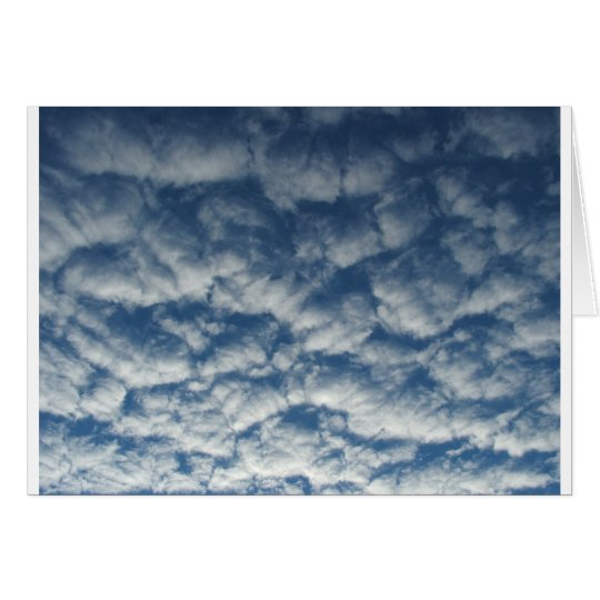 Quilted clouds card