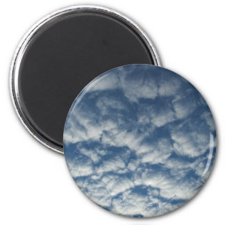 Quilted clouds fridge magnet