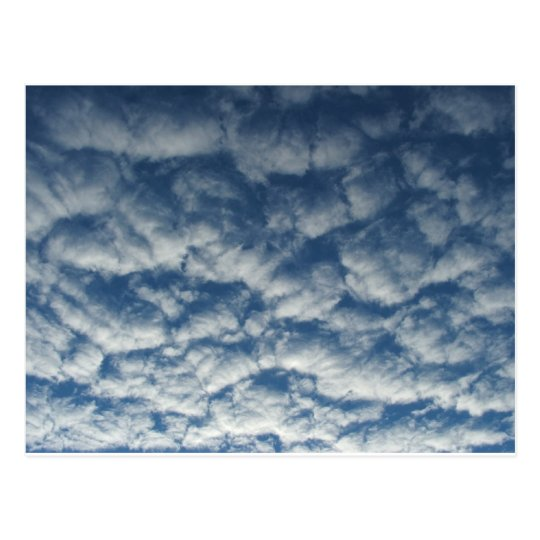 Quilted clouds postcard
