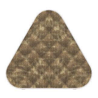 Quilted Cocoa Brown Velvety Textured Pattern Speaker