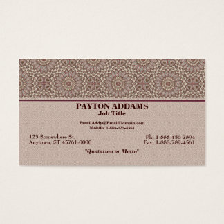 Quilted Comfort Art Pattern 2 - Business Card
