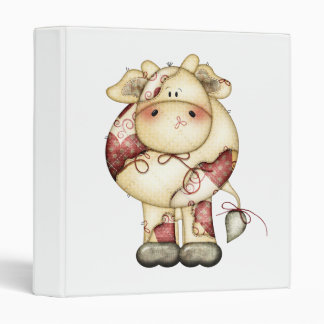 Quilted Country Cow 3 Ring Binder