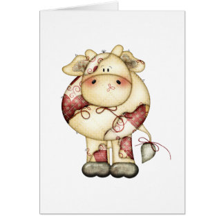 Quilted Country Cow Card