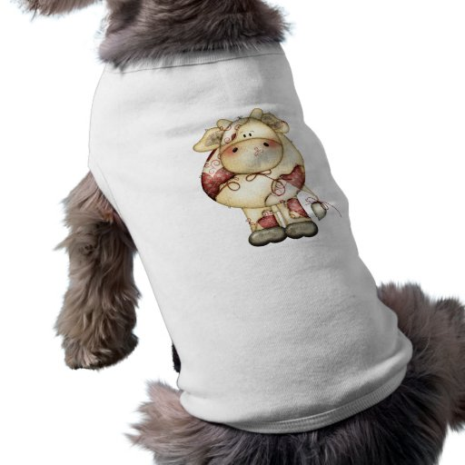 Quilted Country Cow Doggie Tee Shirt