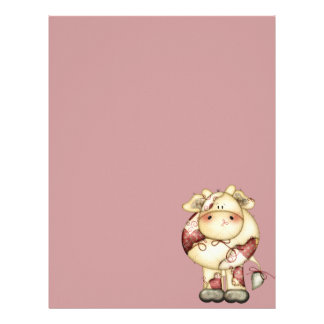 Quilted Country Cow Letterhead
