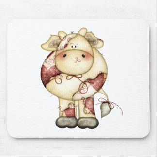 Quilted Country Cow Mouse Pad