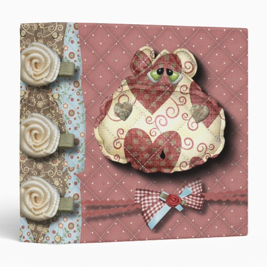 quilted country hippo head binder