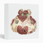 quilted country hippo head binders