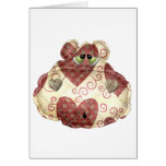 quilted country hippo head card